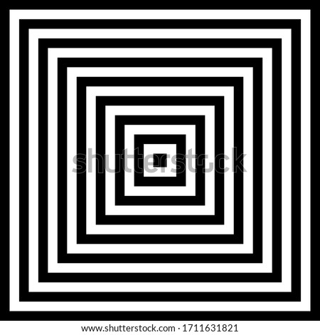 Concentric squares ,concentric abstract geometric pattern. Radial, square linear texture. infinity s Stock photo © kyryloff
