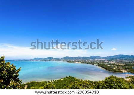 Widoku piękna krajobraz miasta morza Zdjęcia stock © galitskaya