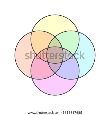Dört circles şablon diyagram grafik Stok fotoğraf © kyryloff