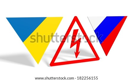 Relations between Russia and Ukraine on white background. Isolat Stock photo © ISerg