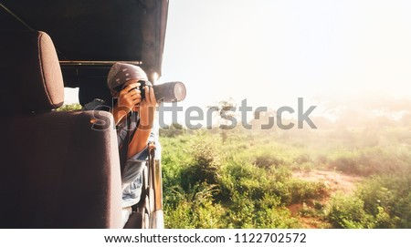 Stock photo: Animal wildlife nature photographer tourist photographing Galapagos Sea Lion