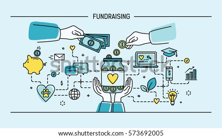Crowdfunding initiatives, charity vector colorful banner template Stock photo © Decorwithme