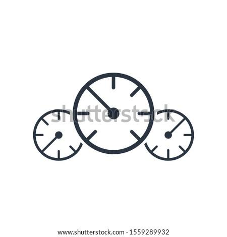 Trois indicateur de vitesse pression icône site web Photo stock © kyryloff