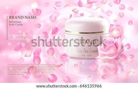 Gesichtscreme Haut Feuchtigkeitscreme rosa Rosen Blumen Stock foto © Anneleven