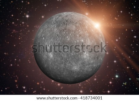 Solar System - Mercury. It is the smallest planet in the Solar S Stock photo © NASA_images