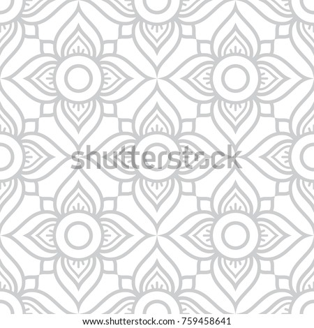 Seamless vector Thai retro pattern, repetitive design from Thailand - folk art style in gray and whi Stock photo © RedKoala