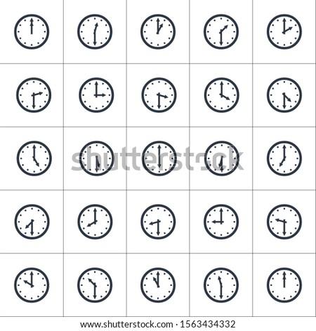 Establecer relojes tiempo 30 Foto stock © kyryloff