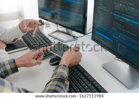 задумчивый рабочих Desktop ПК программированию Сток-фото © snowing