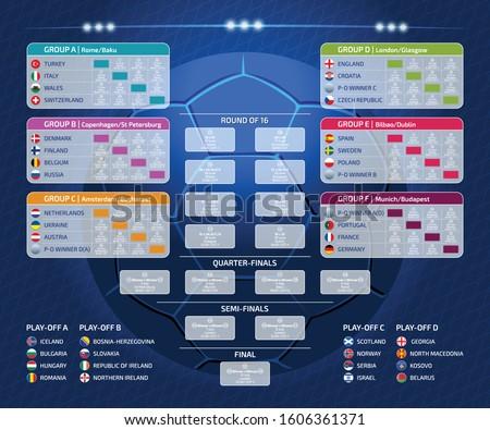 Euro combinar programar bandeiras futebol campeonato Foto stock © ukasz_hampel
