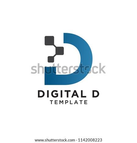 Blue triangle pixel logo design. Business identity tech element. Stock Vector illustration isolated  Stock photo © kyryloff