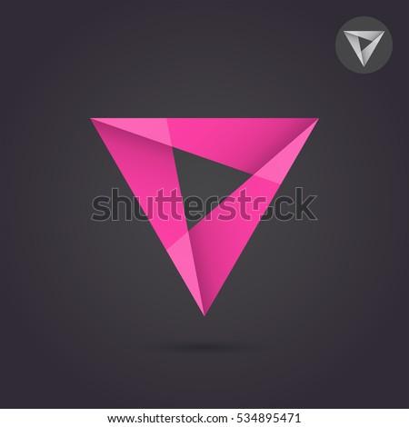 Carta delta pirâmide geométrico triângulo três Foto stock © kyryloff