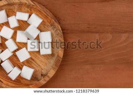 чаши пластина природного коричневого сахара Сток-фото © DenisMArt