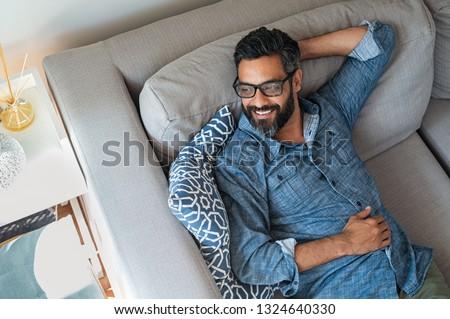 Yakışıklı orta yaş koyu esmer adam üst Stok fotoğraf © pedromonteiro