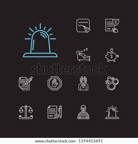 Sheet of Paper and Pen in Court Law And Judgement Icon Vector Illustration Stock photo © pikepicture