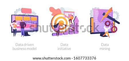 Data driven business model concept vector illustration. Stock photo © RAStudio