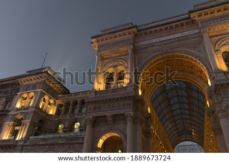 Galleria Vittorio Emanuele in Milan, classic European architecture of Lombardy region in Northern It Stock photo © Anneleven