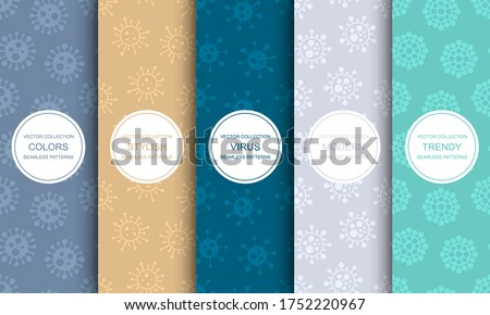 Collection of vector seamless geometric virus patterns - cartoon Stock photo © ExpressVectors