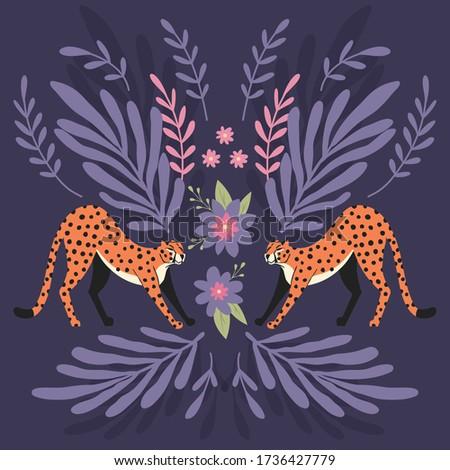 2 かわいい 手描き ストレッチング 暗い 紫色 ストックフォト © BlueLela