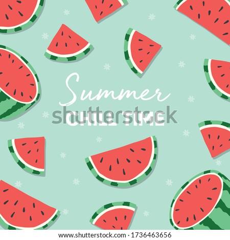 フルーツ デザイン 夏 時間 タイポグラフィ スローガン ストックフォト © BlueLela