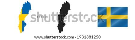 詳しい スウェーデン シルエット フラグ ヨーロッパ ストックフォト © evgeny89