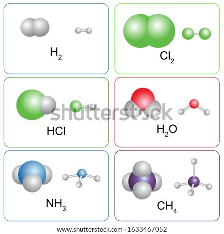 Színes vegyi modell víz alkotóelem molekuláris Stock fotó © evgeny89