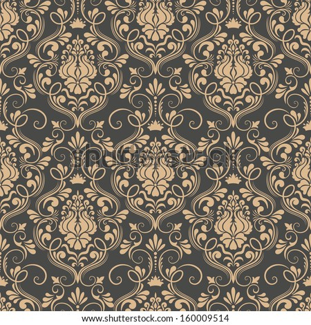 Vector damask seamless pattern background. Elegant luxury texture for wallpapers, backgrounds and pa Stock photo © sanyal