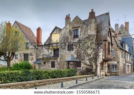 Street in Nevers, Ftance Stock photo © borisb17