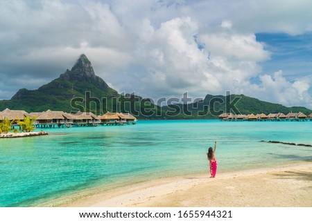 Polinezya dansçı kadın dans plaj Hawaii Stok fotoğraf © Maridav