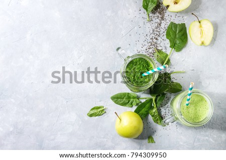Healthy green detox juice Stock photo © dashapetrenko