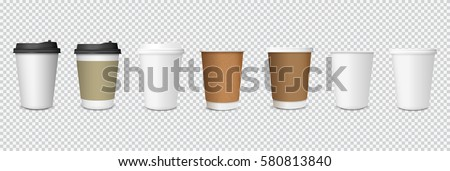 paper cups isolated on white background stock photo © borysshevchuk