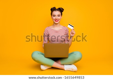 pretty young woman with buying shoes addiction, isolated on whit Stock photo © dotshock
