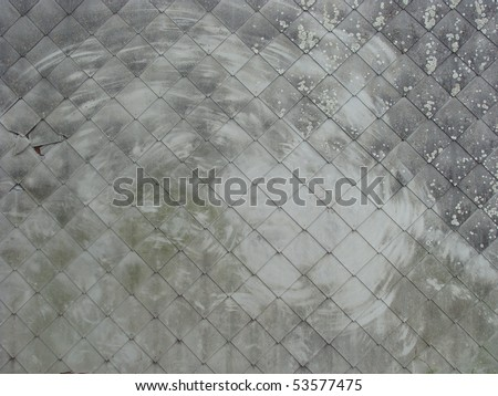 large side shot of house showing shales attached to a wall with  Stock photo © Melvin07