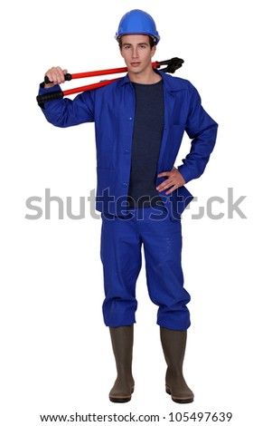 young worker posing with bolt cutters Stock photo © photography33