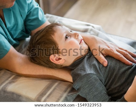 Alternative medicine and pain healing, young therapist with pati Stock photo © diego_cervo