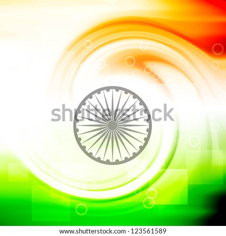 stylish indian flag republic day creative swirl tricolor wave ba foto stock © bharat