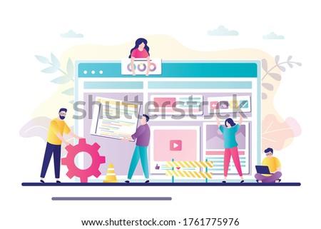 модный · вектора · сайт · шаблон · компания · мобильных - Сток-фото © ussr