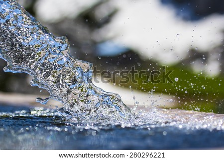 Stock photo: water spring