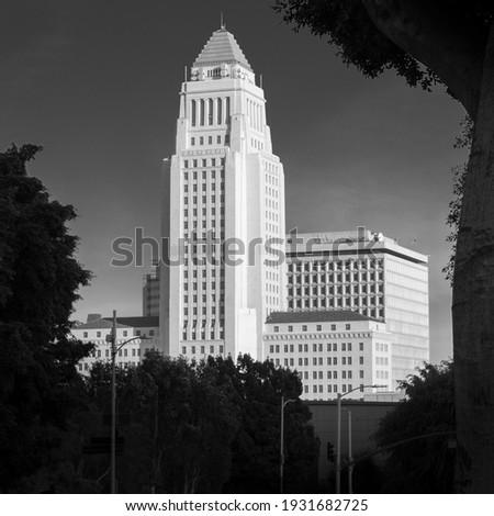 Fachada histórico arranha-céu centro da cidade Los Angeles fogo Foto stock © meinzahn