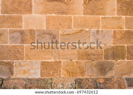 pattern of old historic brick wal Stock photo © meinzahn
