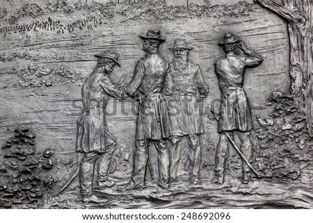 általános · lovas · polgárháború · katona · szobor · Pennsylvania - stock fotó © billperry