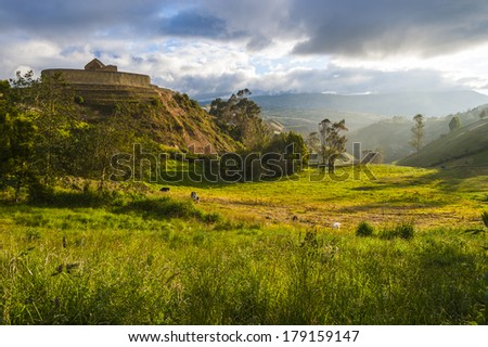 Ingapirca, Inca wall and town, largest known Inca ruins in Ecuad Stock photo © xura