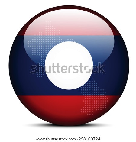 map with dot pattern on flag button of democratic republic timo stock photo © istanbul2009