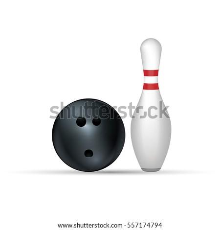 Bowling kırmızı yalıtılmış beyaz görmek Stok fotoğraf © ZARost