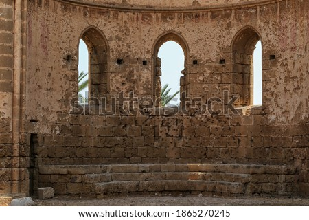 medieval ruins of the st george of the greeks church famagusta stock photo © kirill_m