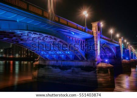 View of the Shard, Southwark Bridge, Tower Bridge and the River  Stock photo © chrisdorney