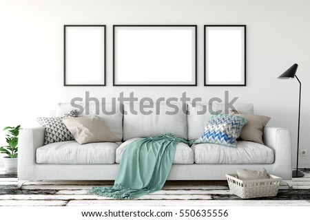 Felfelé poszter nagy kanapé beton fal Stock fotó © pozitivo
