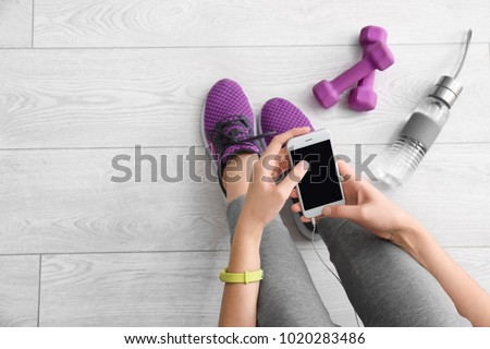 composite image of fit woman with water stock photo © wavebreak_media
