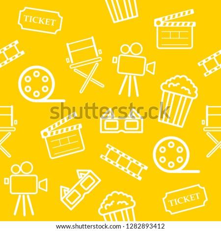 pipoca · padrão · delicioso · colorido · sem · costura · papel - foto stock © netkov1