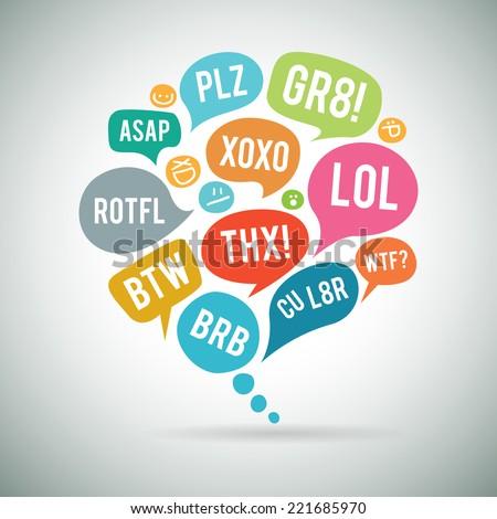 Internet betűszó chat buborék illusztráció terv háttér Stock fotó © kiddaikiddee
