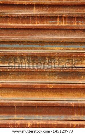 Train parts in rust Stock photo © Hofmeester